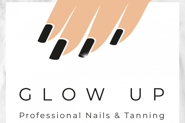 Glow Up – Black Nails (Marble)